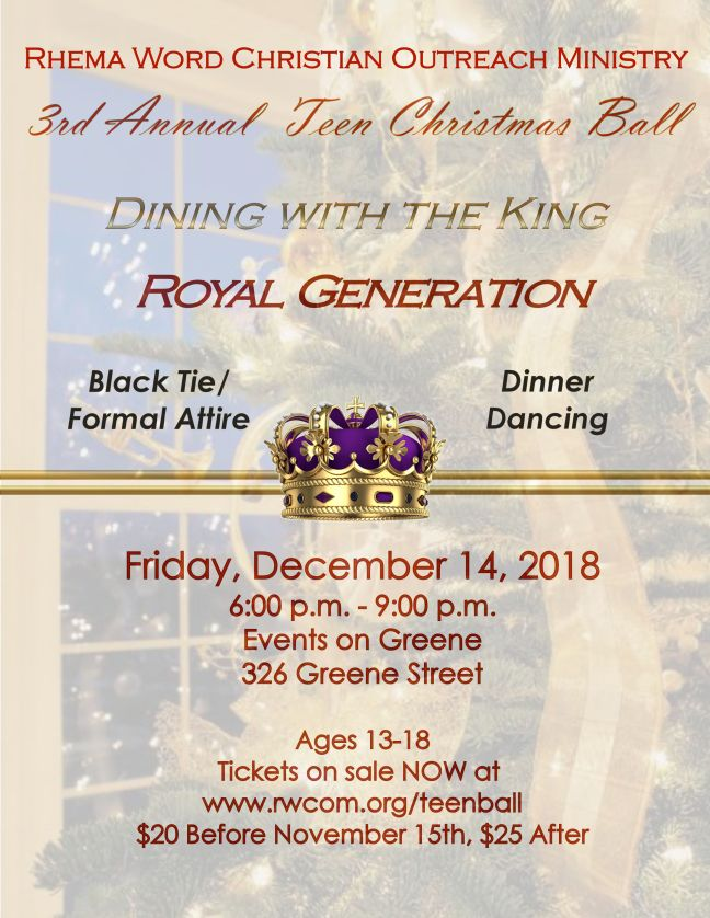 Teen Ball 2018 Flyer