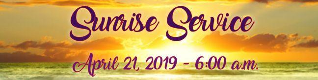 Sunrise Servce 2019