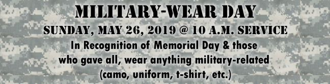 Military Wear Day 2019